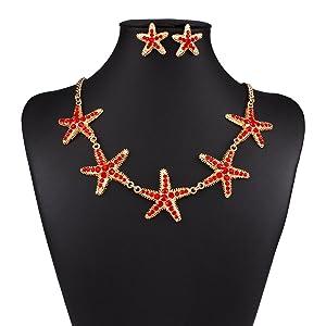 Star Diamond Explosion models exaggeration fashion retro false collar necklace