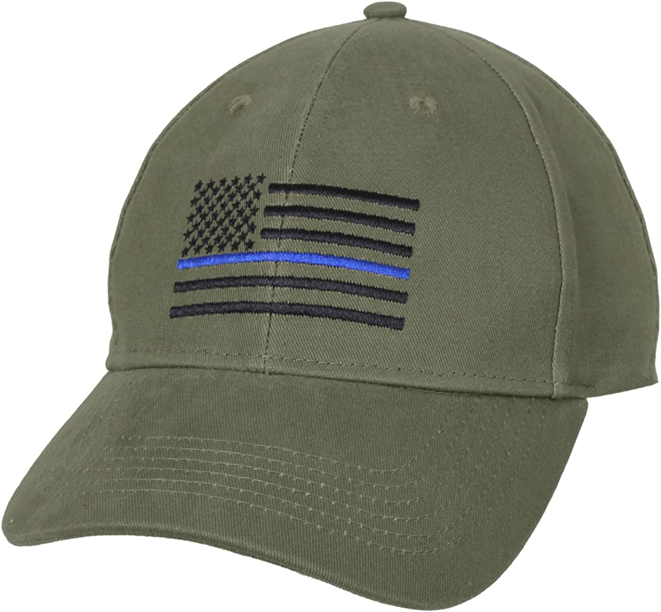 Olive Green USA Police Thin Blue Line Low Profile Hat Baseball Support Law