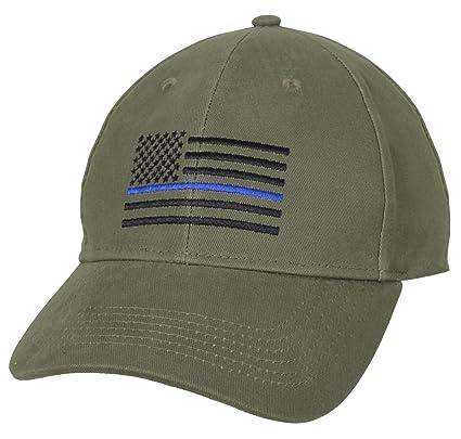 Amazon.com  Rothco Thin Blue Line Flag Low Profile Cap 412ba39e01de