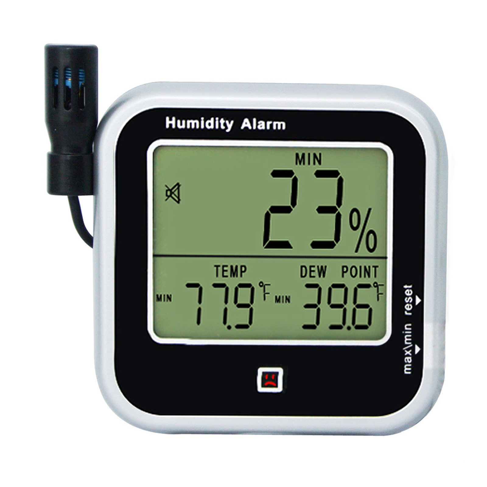 Digital Indoor or Outdoor Hygrometer and Thermometer Thermo-hygrometer, Dew Point Humidity Alarm 14~140°F Temperature Monitor Meter, Handheld/Wall-mount/Desktop by Gain Express
