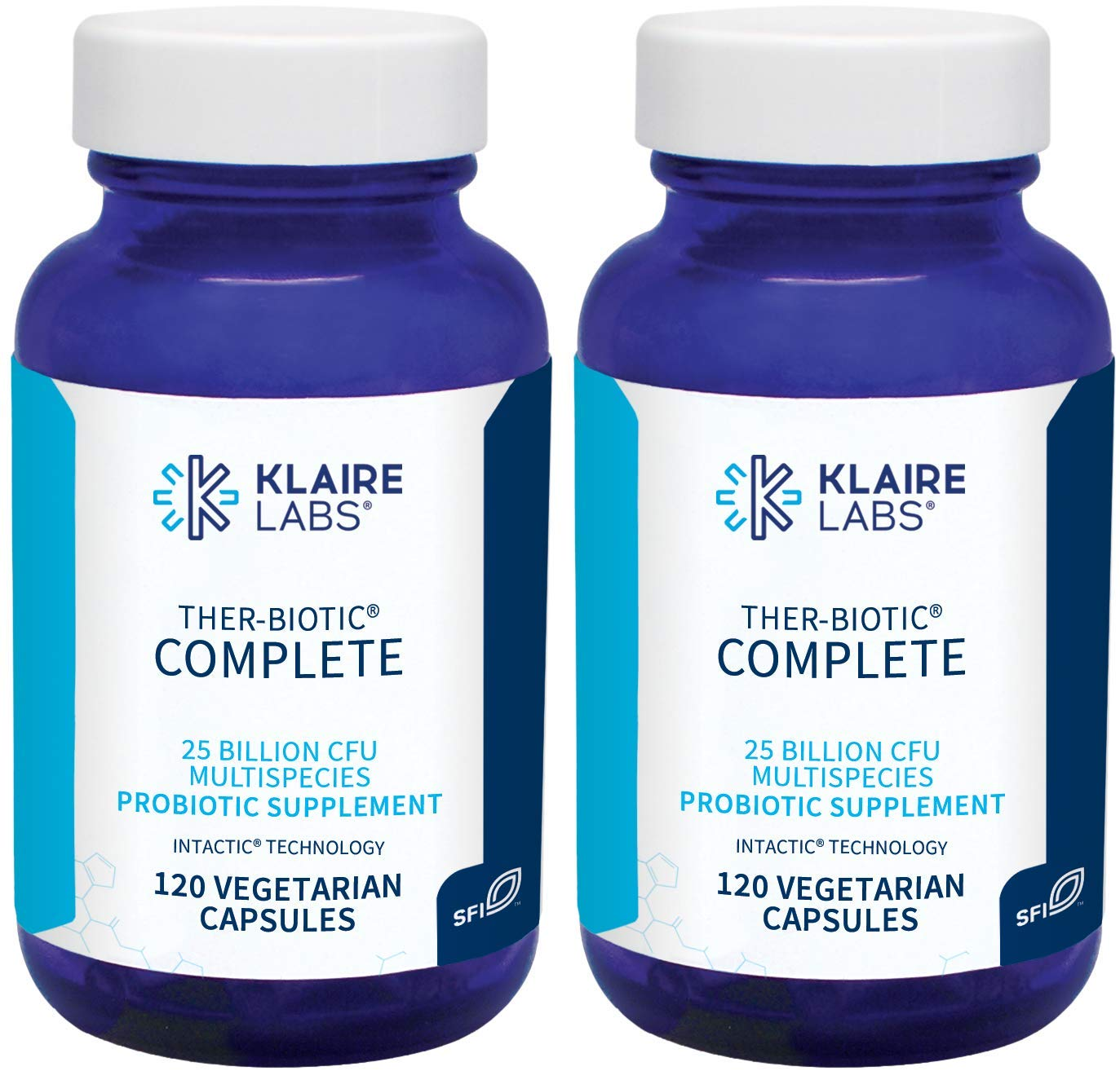 Klaire Labs Ther-Biotic Complete, 120 Vegetarian Capsules (2 Pack)