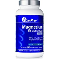 CanPrev Magnesium Bis-Glycinate (200mg Gentle, 240 v-caps)