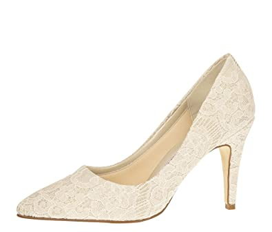 Rainbow Club Brautschuhe Giverney Pumps High Heels Ivory Glitzer