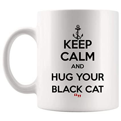 Amazon.com: Hug Black Cat Cats Pet Cute Mug Coffee Cup | Funny Tea ... #blackCoffee