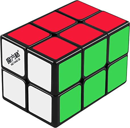 D-FantiX Qiyi 2x2x3 Cuboid Cube, 223 Speed Cube Twisty Puzzle (Black)
