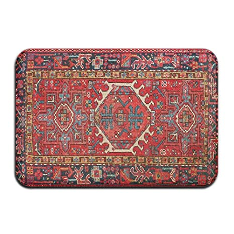 Amazon Com Tsjkwo Persian Rugs Front Door Mat Large Outdoor Indoor