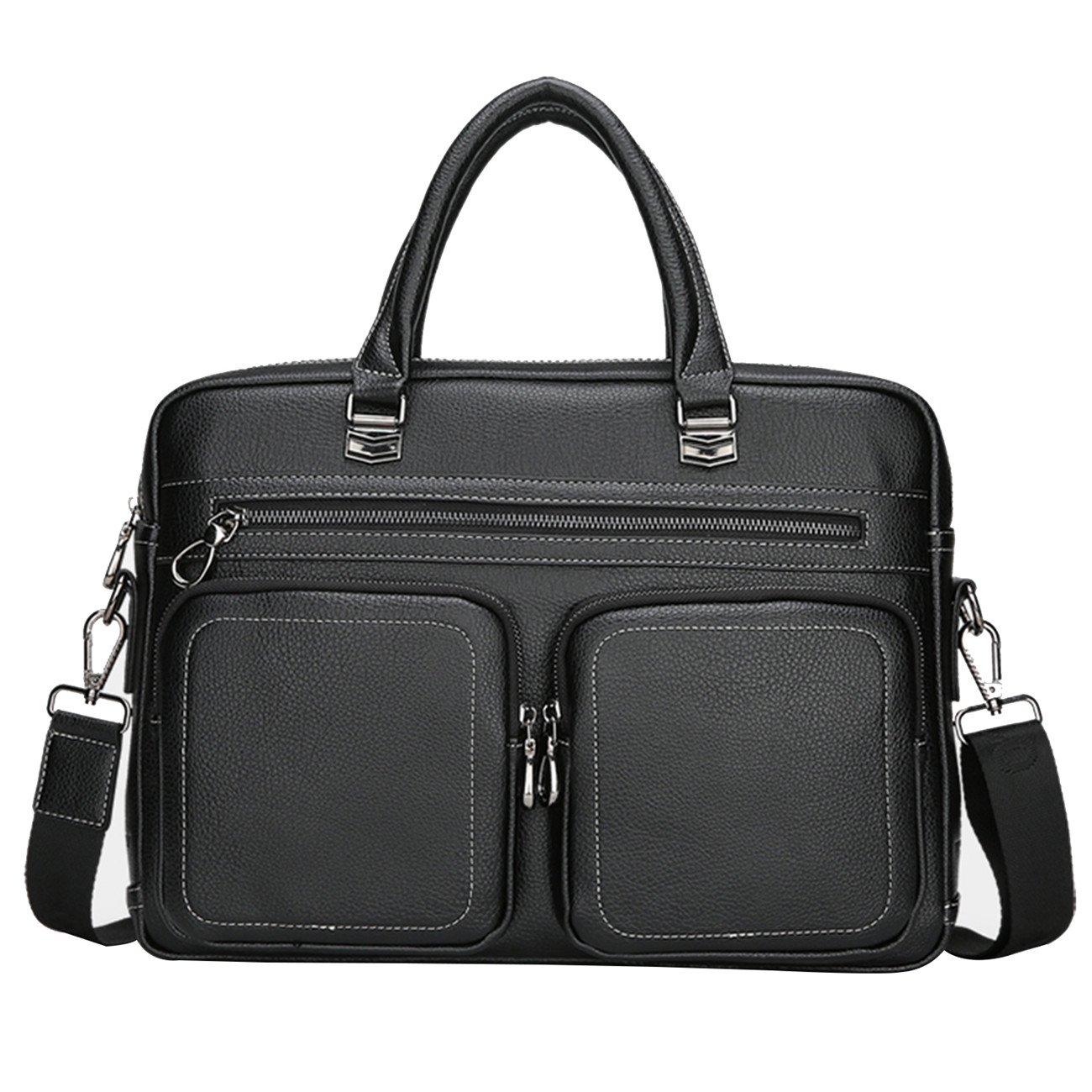 Asge Herren Ledertasche Vintage Handtasche Umhängetasche leder Aktentasche classic messenger bag a4 Arbeitstasche Männer Businesstasche Laptoptasche 15.6 zoll