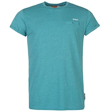 8612ff0275023 Lee Cooper Essential Roll Sleeve T-Shirt Mens Teal Casual Wear Top ...