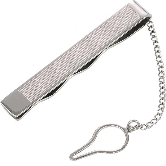 DonDon alfiler Pinza Clip de Corbata para Hombres Acero Inoxidable ...