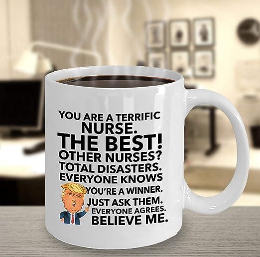 regalo de graduación Cumpleaños enfermería Taza Enfermera Gracioso Taza de café RN Appreciation
