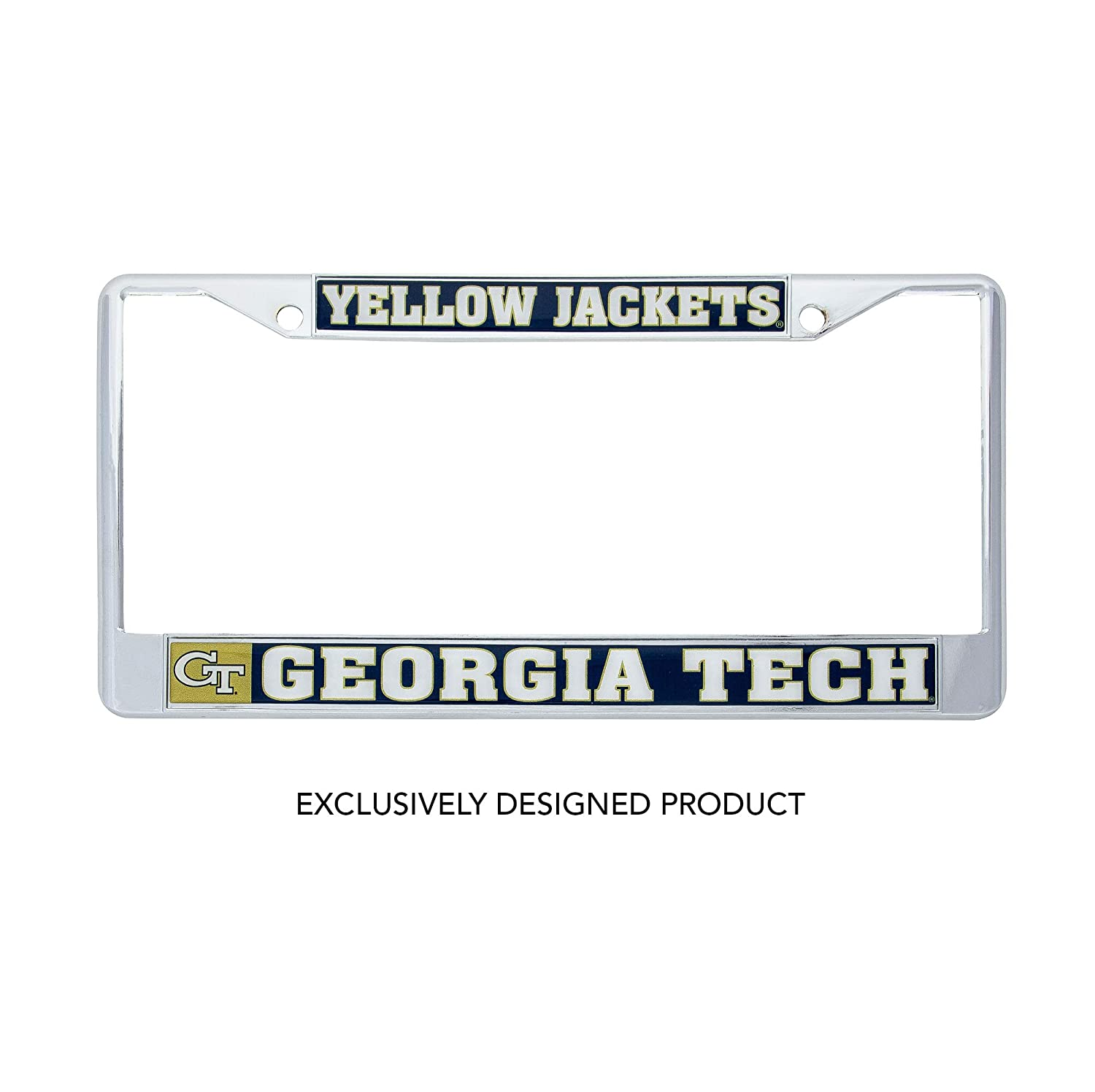 Desert Cactus Georgia Tech Yellow Jackets Metal License Plate Frame for Front Back of Car Officially Licensed Mascot