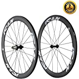ICAN 50mm 700C Carbon Wheelset Road Bike Clincher Rim Shimano or Sram 10/11 Speed 1510g (Classic Wheelset)