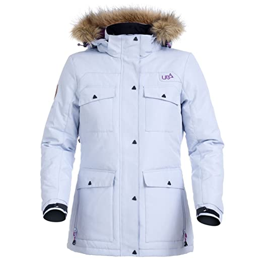 819fbbcaa4 Urban Beach Womens Parka Jacket Lilac White Skiing Snowboarding Mountain  Waterproof Hooded Outdoor Warm Winter Snow