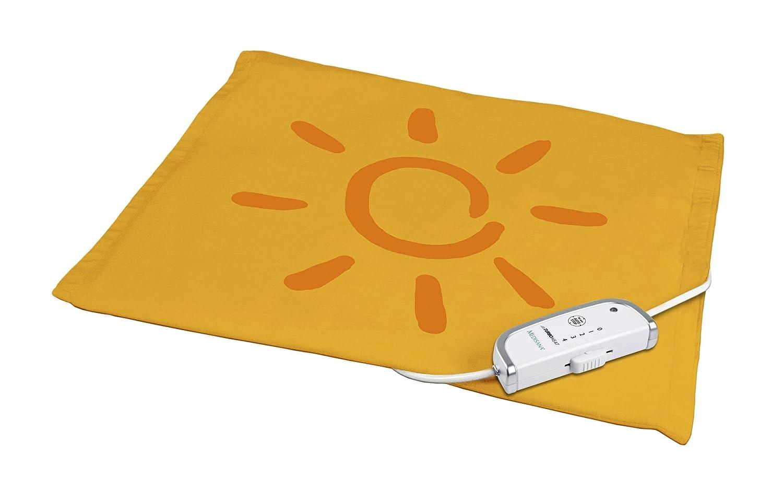 Medisana HKS - Almohadilla eléctrica, tecnología APS, indicador visual y acústico de temperatura, color rojo y naranja 60104