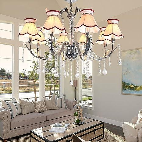 Leohome- Moderna lámpara de techo LED de cristal con ...