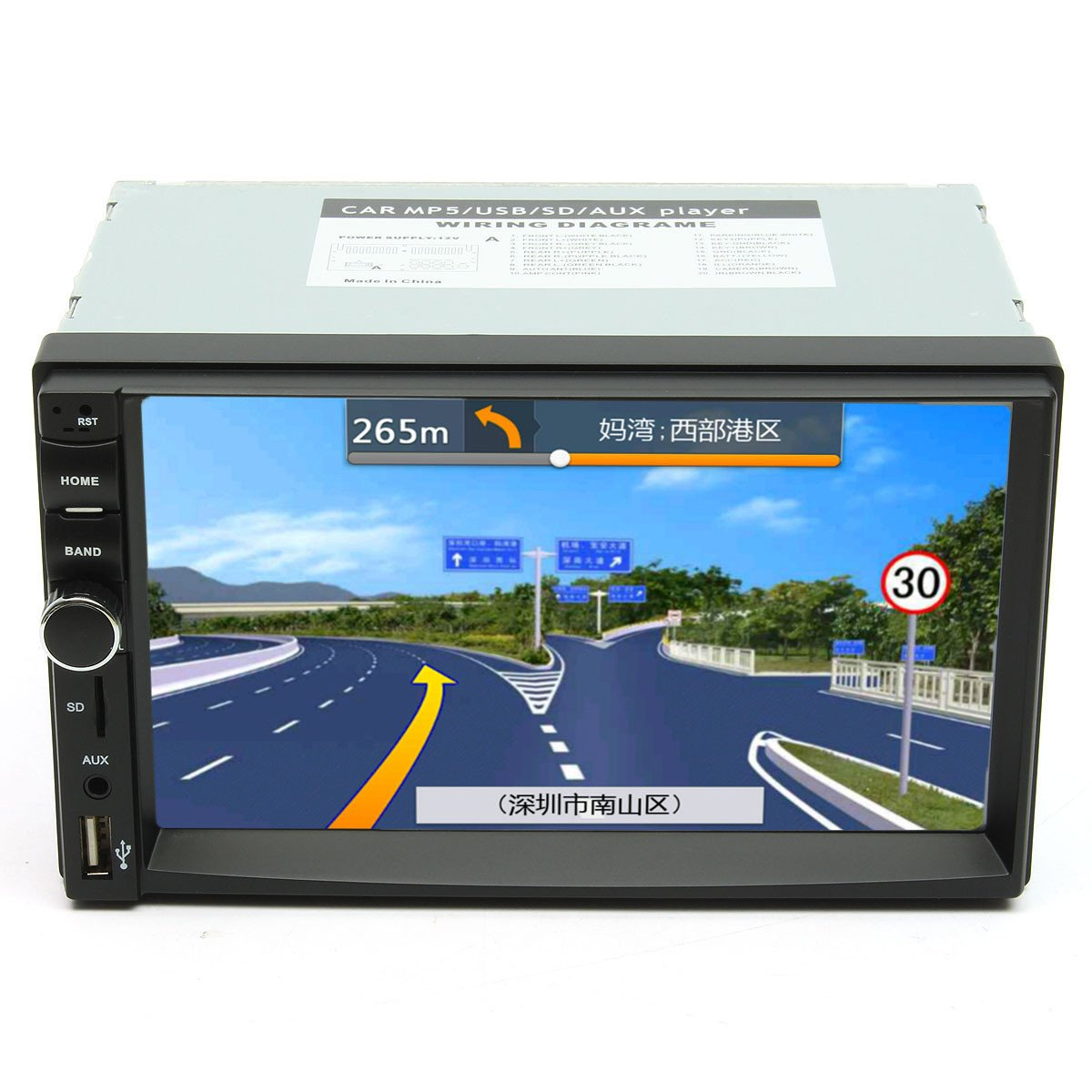 7 Inch Touch Screen 2 Din Car 1080P Radio Auto FM Aux/AUX/SD/MP5 Bluetooth And Camera by US Tech (Image #1)