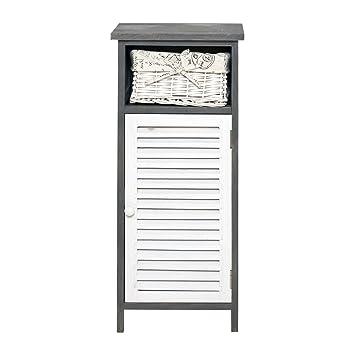 mobili rebecca® mobile bagno cassettiera 1 cassetto 1 anta legrno ... - Cassettiera Bagno In Vimini