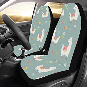 Phenomenal Amazon Com Seat Covers For Cars Cute Llama Cactus And Gmtry Best Dining Table And Chair Ideas Images Gmtryco