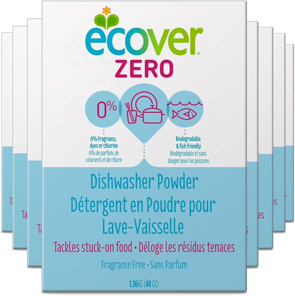 Ecover Zero Dishwasher Soap Powder, 48 Ounce (Pack 8)