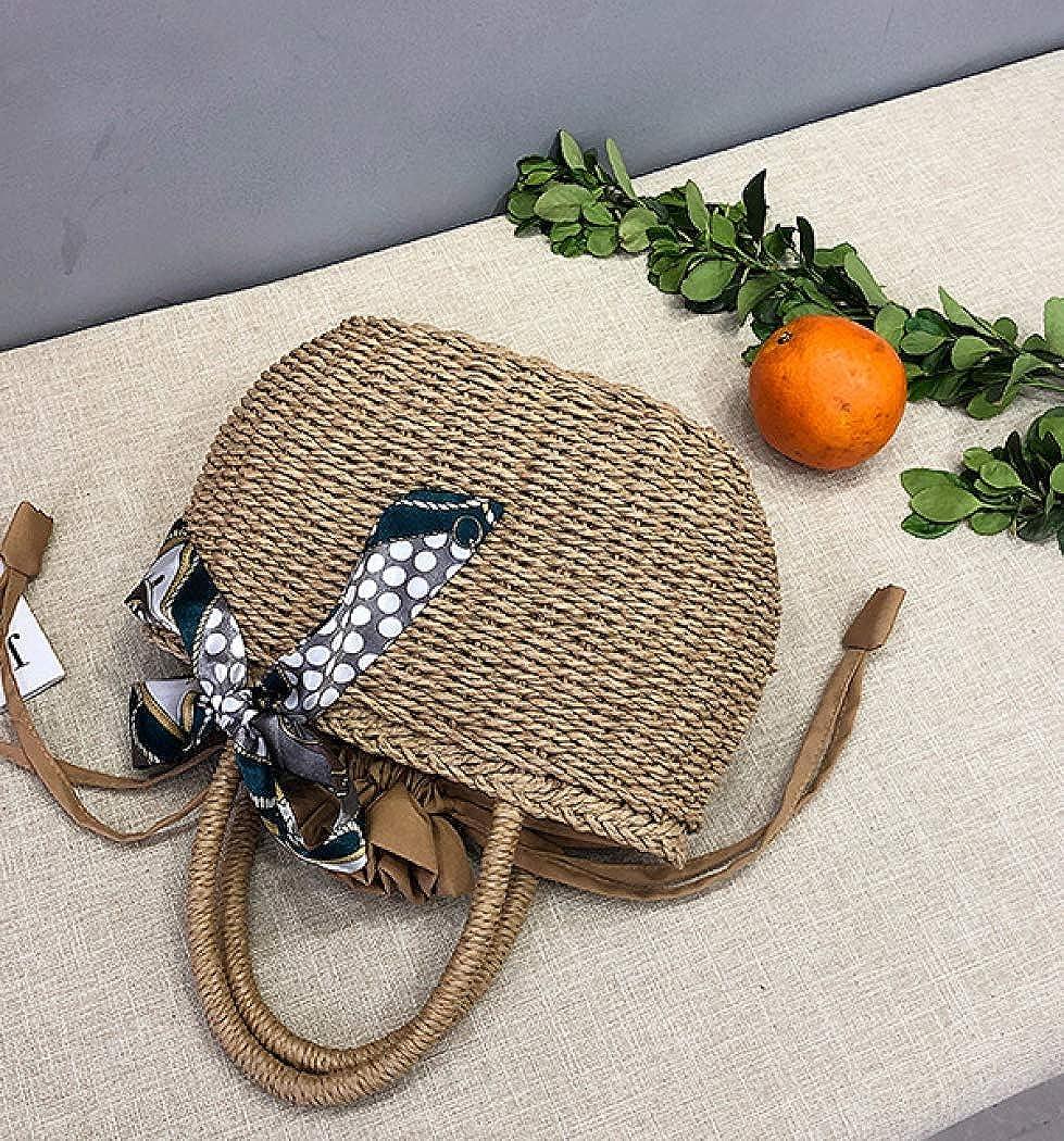 Amazon.com: Bolsa de paja para mujer, tejido de ratán, bolso ...