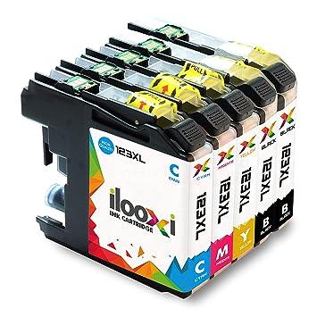 Ilooxi 5X Cartuchos de Tinta Compatible con Brother LC-223 XL LC-223XL LC223