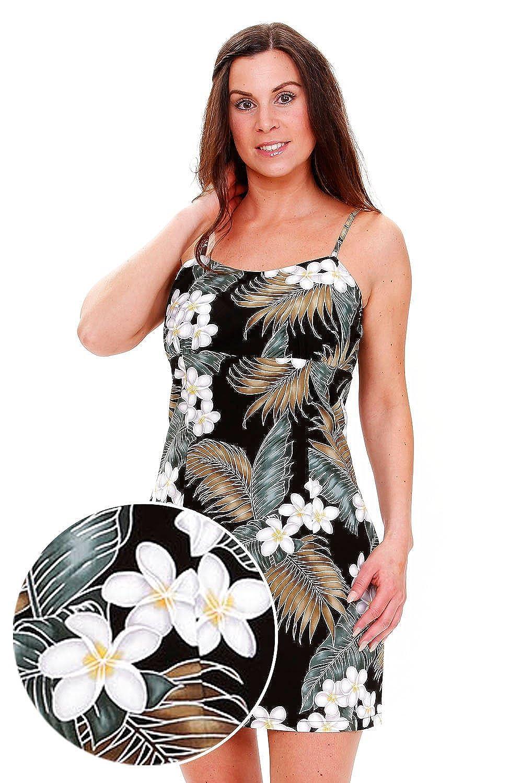 Pacific Legend | Original Hawaiikleid | Damen | S - XXL | Sommer | Hawaii-Print | Palmenblätter | Schwarz