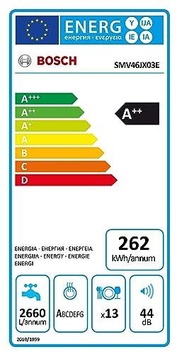 Bosch SMV46JX03E Serie 4 - Lavavajillas integrable (A++, 60 cm ...