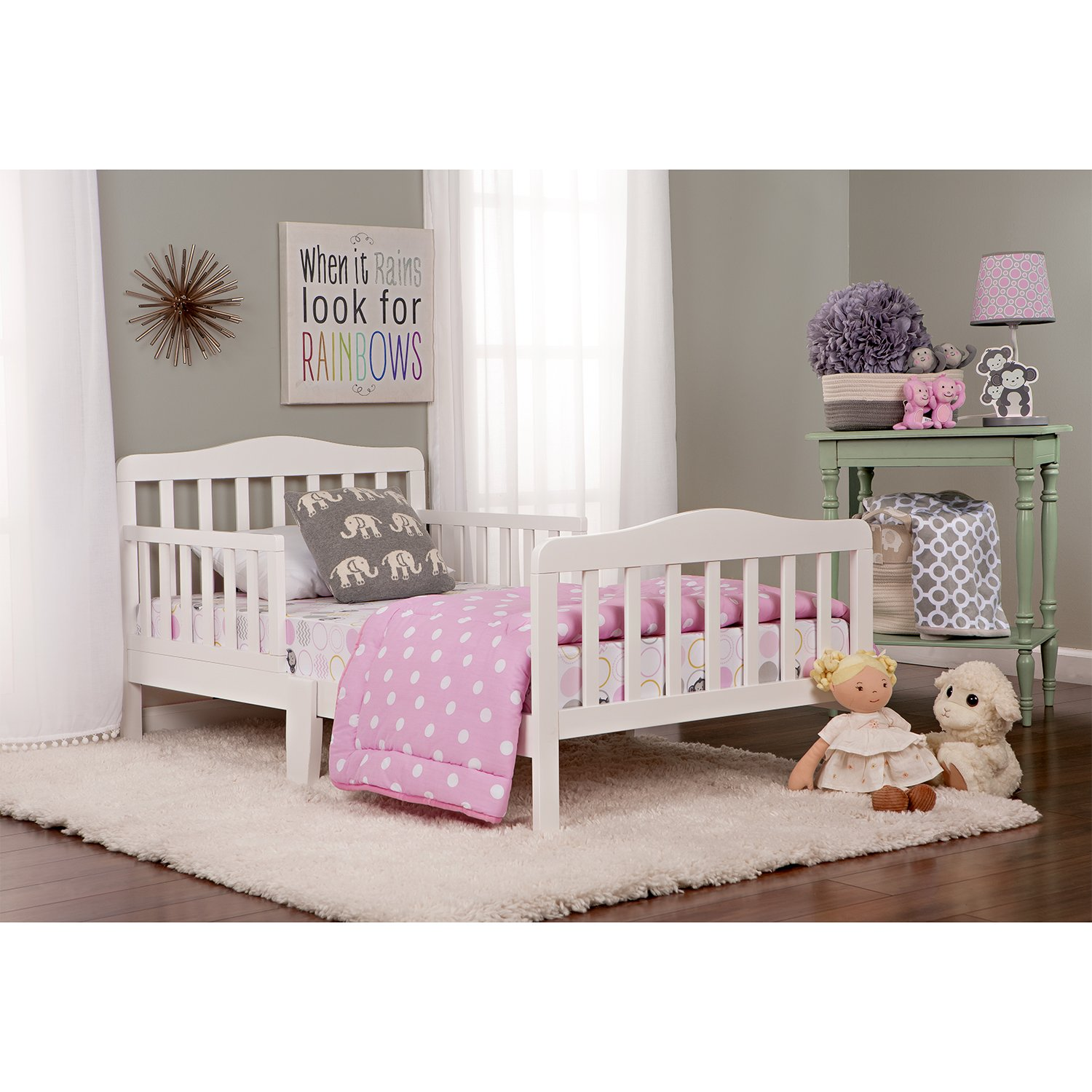 Amazon Dream On Me Classic Toddler Bed In White Baby