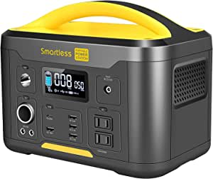 SMARTLESS 500W Portable Power Station U500, 515Wh Backup Lithium Battery Solar Generator with 110V Pure Sine Wave AC Outlet, Type-C PD 60W Input/Output, for Camping Fishing Travel Hunting Emergency
