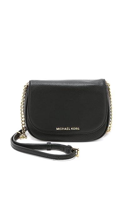 dbd35c5ec548 MICHAEL Michael Kors Bedford Small Crossbody Saddle Bag Black: Amazon.ca:  Shoes & Handbags