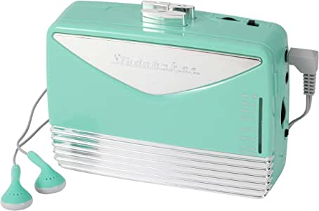 Studebaker Walkabout Walkman Personal Stereo Cassette Player with AM/FM Radio (Teal/Silver)