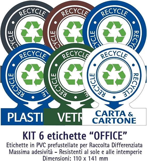 Etiquetas autoadhesivas para recoger basura – Kit Office (Medio) – 6 etiquetas variadas 11 x 14 cm: Amazon.es: Hogar