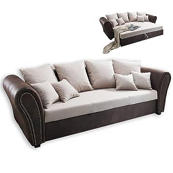 Big Sofa - beige-braun - mit Liegefunktion: Amazon.de: Küche & Haushalt