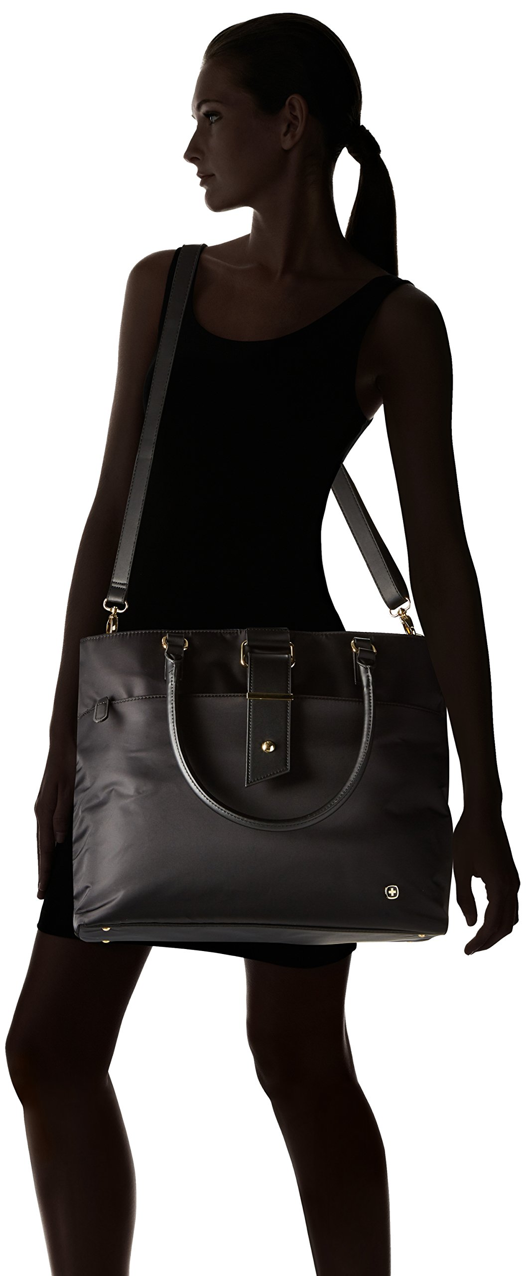 Wenger Luggage Ana 16'' Women's Laptop Tote Bag, Black, One Size by Wenger (Image #6)