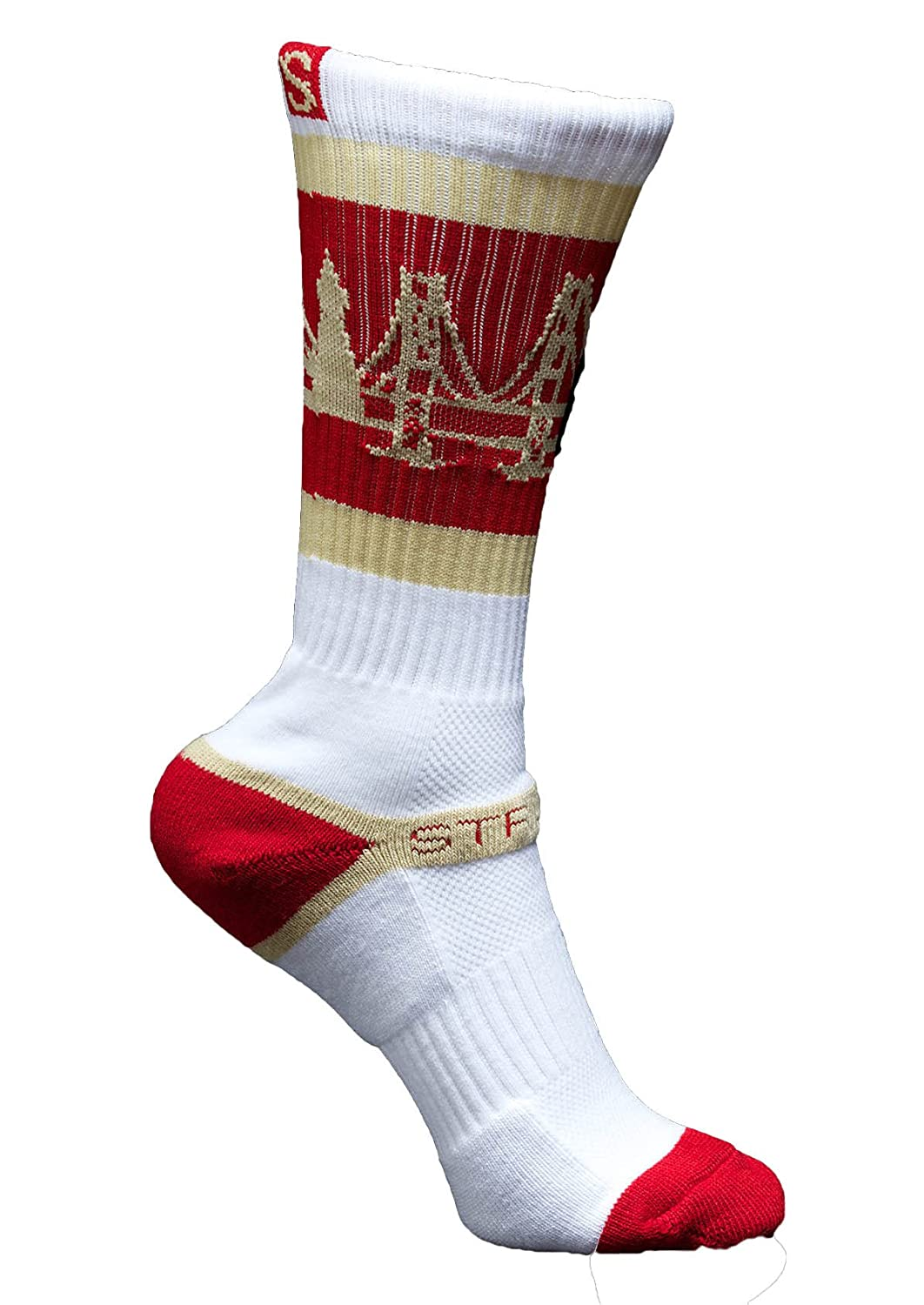 Strideline THE BAY 49ers Athletic Crew Socks, One Size