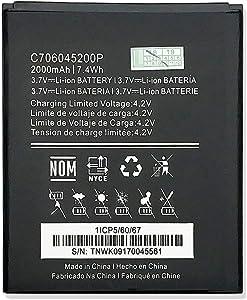 HQMelectronicsparts Supplies for 2000mAh Li-ion Battery for BLU Dash X D010 D010U D010L 3.7V 7.4Wh C706045200P