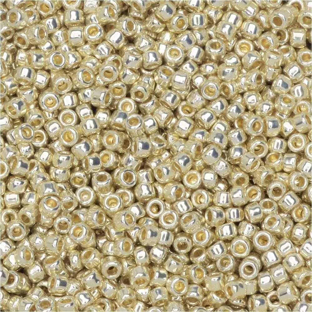 80 Light Green Aqua Silver Lined Matte Toho seed bead Color # 8T-23BDAF 15 gram bag