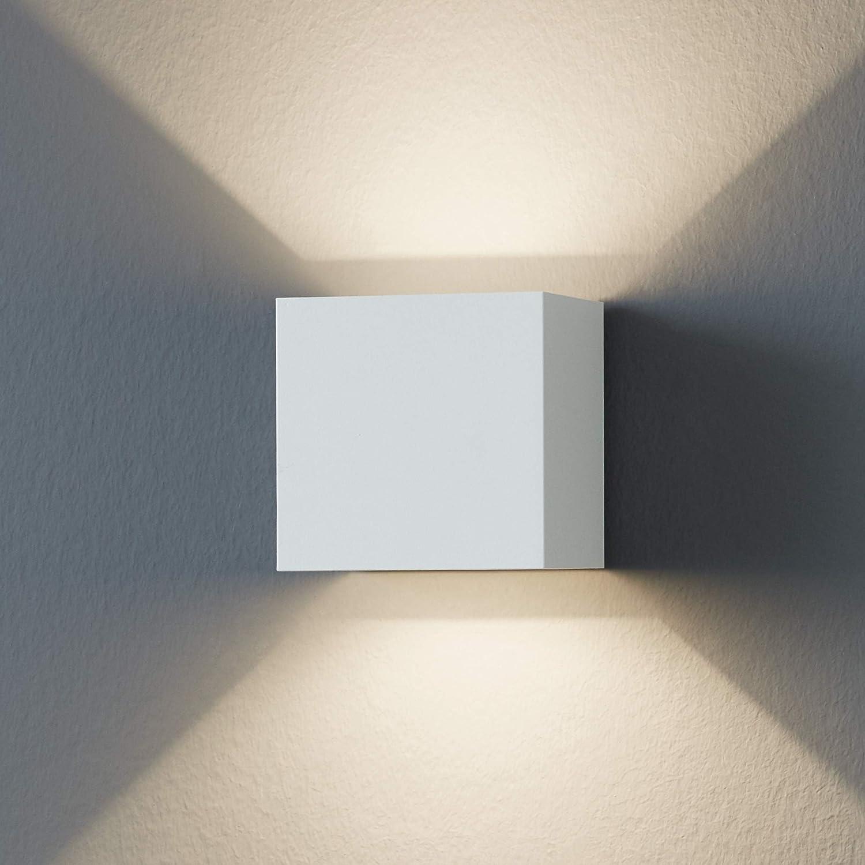 EGLO LED Außen-Wandlampe Calpino, 2 flammige Außenleuchte, Wandleuchte aus Alu, Farbe: Weiß, IP54 Weiß