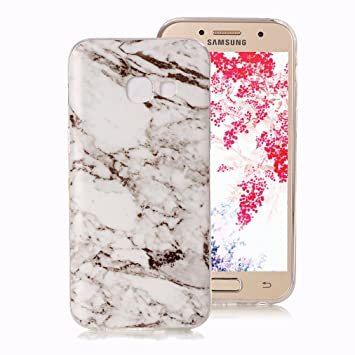 Funda Mármol para Samsung Galaxy A5 2017, Ronger Carcasa Gel TPU Silicona Marble Case Cover Funda Ultra Fino Flexible con Patrón de Piedra para Funda ...