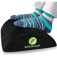 ErgoFoam Ergonomic Foot Rest Under Desk - Premium Velvet Soft Foam Footrest for Desk - Most Comfortable Desk Foot Rest…