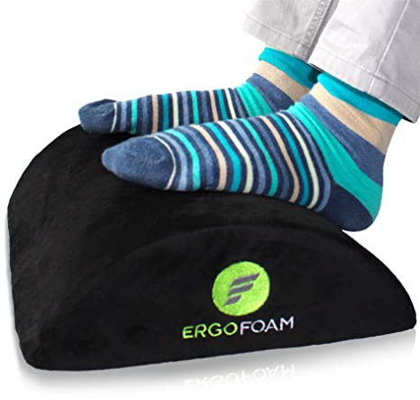 Amazon.com: ErgoFoam reposapiés ergonómico para debajo del ...