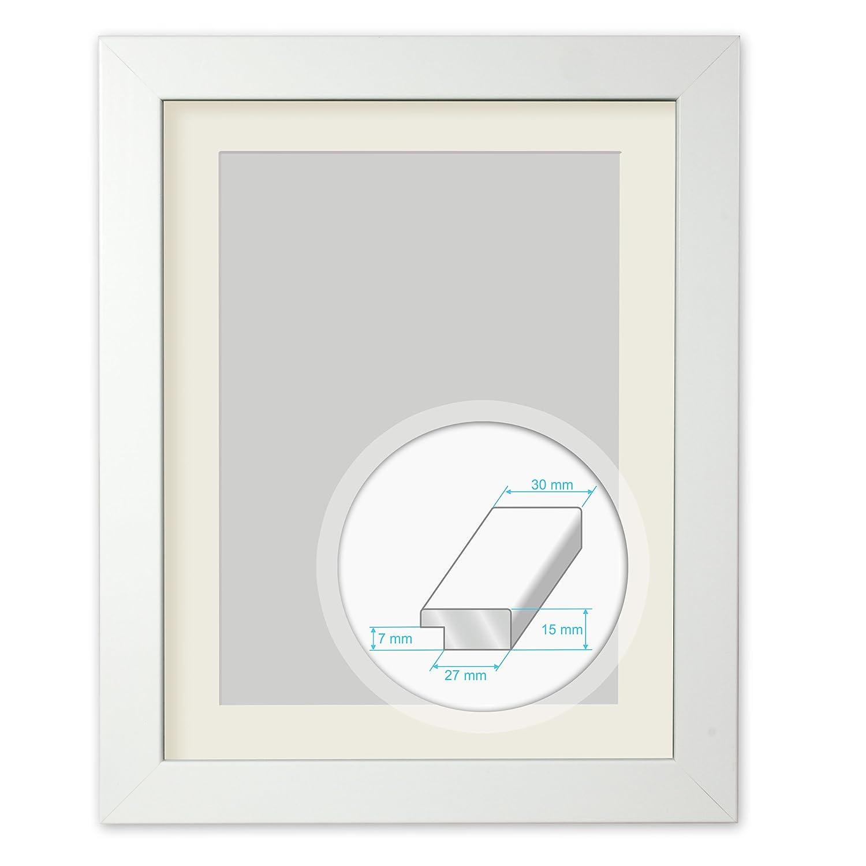 Amazon.de: GMGold Bilderrahmen, 16x12 for image 12x8, White frame ...