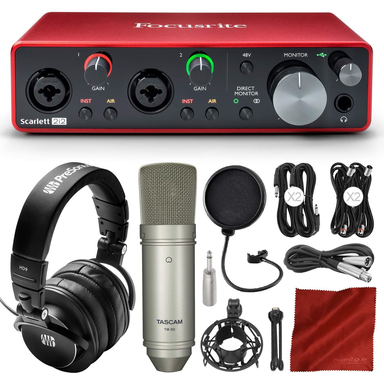 Focusrite 2i2: interfaz de audio de grabación USB de 2 en...