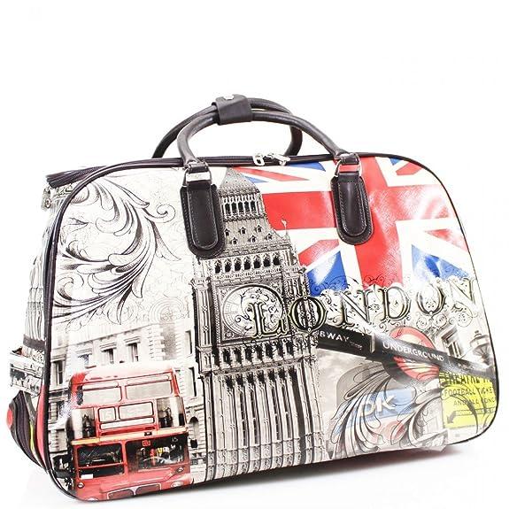 ydezire - bolso de mano para mujer, para viaje corto, Con Ruedas, color Negro, talla Talla única: Amazon.es: Zapatos y complementos
