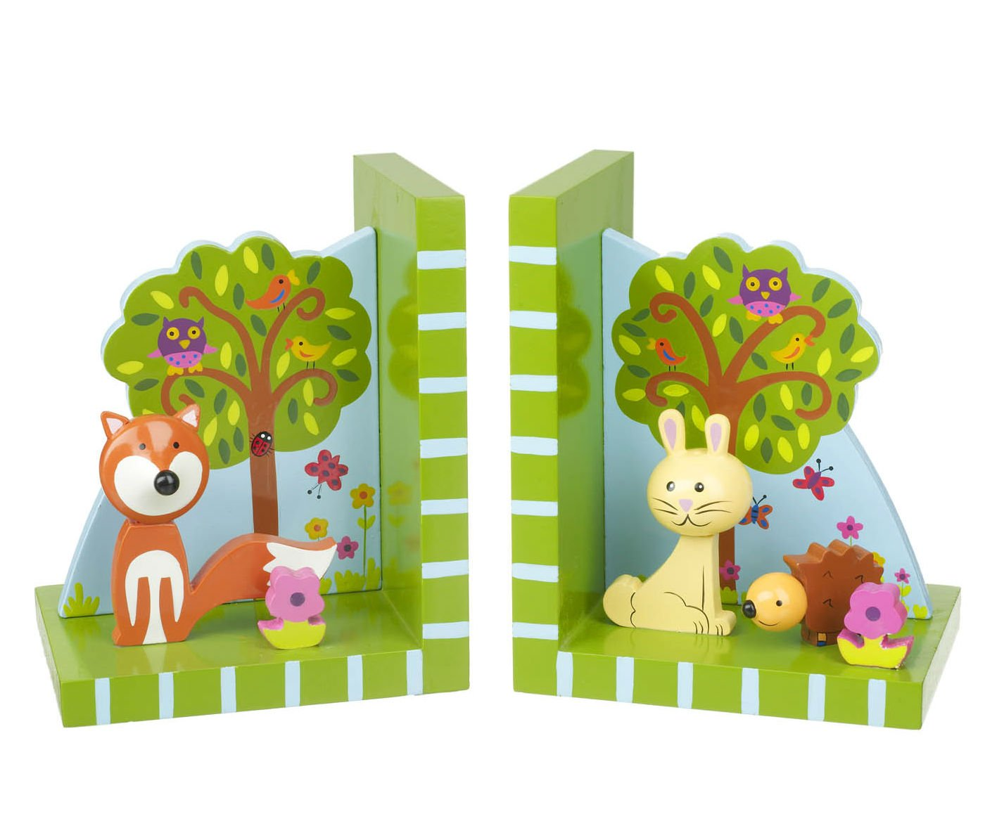 Orange Tree - Woodland Friends Wooden Bookends RY92K1164