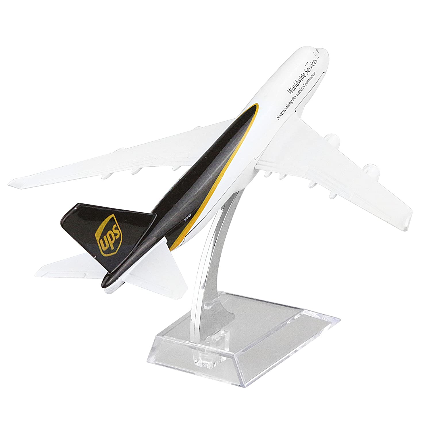 Diecast Airplane 1:400 American UPS B747 Metal (16cm) Plane Model Office Decoration or Gift by LESES