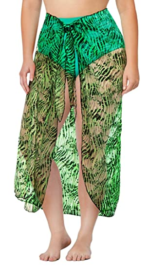86ab43aa496 Black   Neon Green Zebra Lace Plus Size Supersize Sarong Swimsuit Coverup 0x