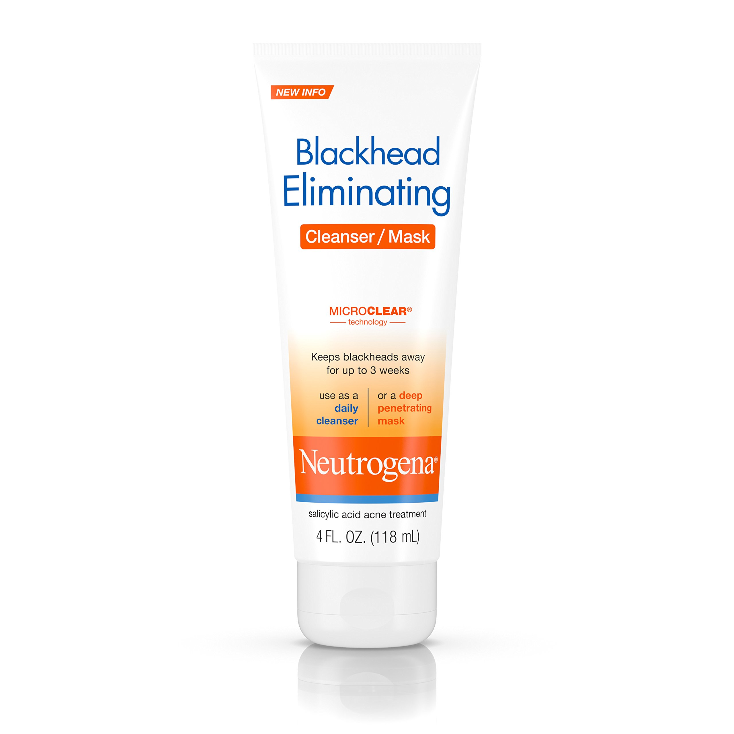 Neutrogena Blackhead Eliminating Cleanser/Mask, 4 Fluid Ounce (Pack of 3)