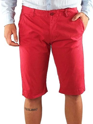 Bermuda Hombre Pantalones Cortos algodón Blancos Azul Mostaza ...