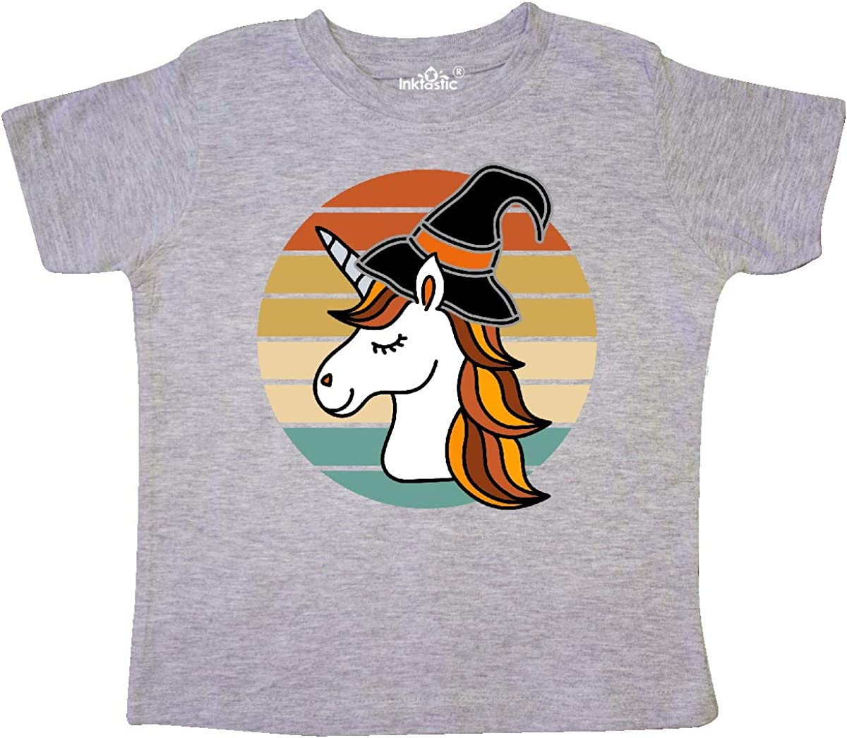 inktastic Halloween Unicorn Retro Witch Toddler T-Shirt